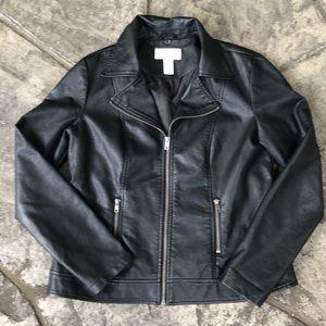 Faux Leather Black Moto Jacket